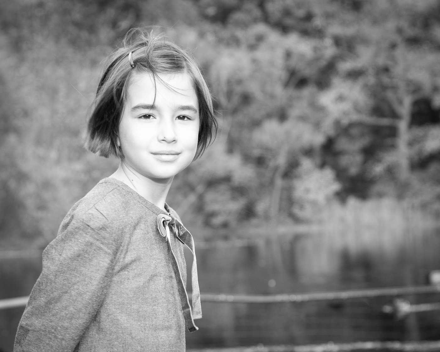 Child portrait photography - B&W
