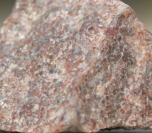 Pink and red hues in quartzite are due to the presence of iron oxide