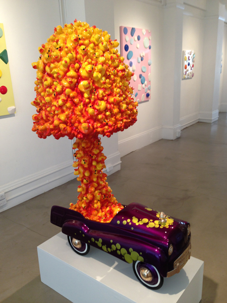 """""""Quack-Quack"""" (2013) Automotive-finished cast resin and clear-coated cast resin. x x x inches"""