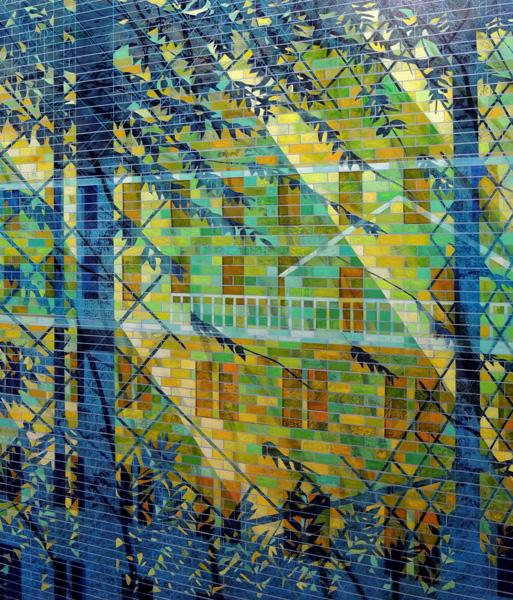 """""""Isla Vista View """" (2014)<br>Oil on canvas, 36 x 30 inches."""