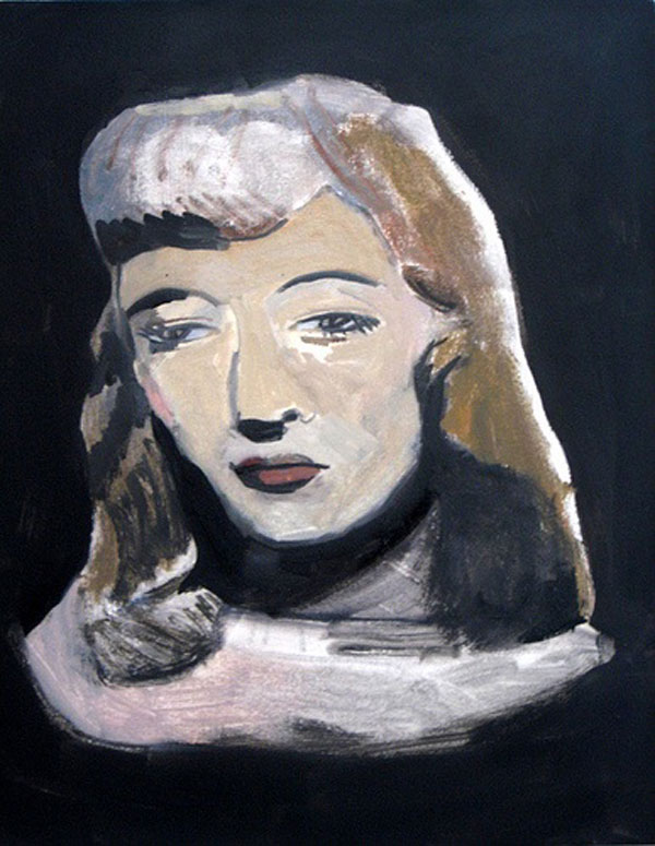 """Barbara"""" (2009)<br>Oil on canvas, 18 x 16 inches."""