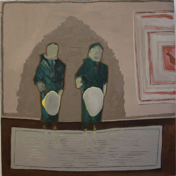"""""""Two By Two"""" (2009)<br>Oil on canvas, 24 x 24 inches."""