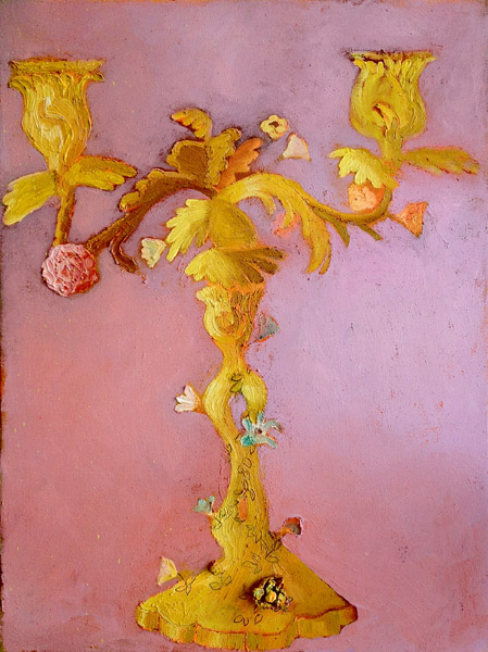 """Rococo Candelabra II""<br>Oil on canvas (2012)<br>24 x 18 inches"