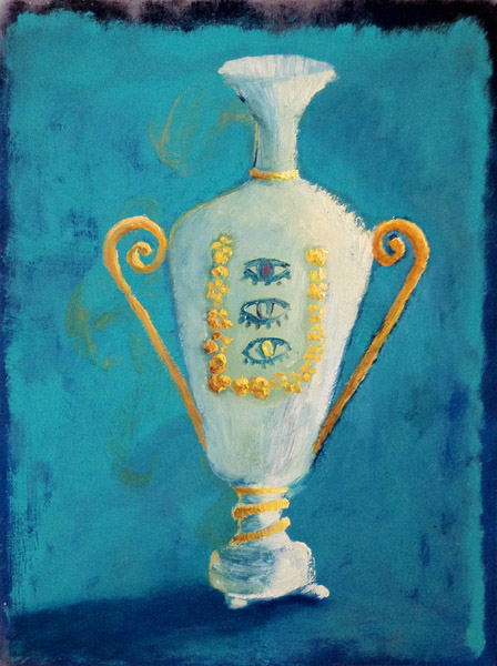 """French Vase with Third Eye""<br>Oil on canvas (2012)<br>24 x 18 inches"