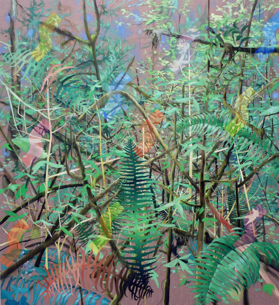 "Christopher Russell <br>""In Fern Oh"" (2013)<br>Oil on linen, 40 x 36 inches"