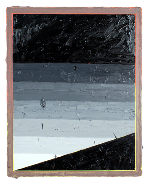 """Russell Tyler  """"Computing"""" (2013) Oil on canvas, 30 x 24 inches."""