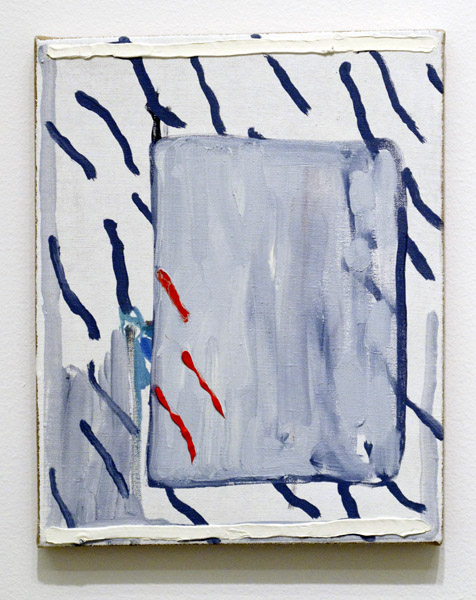 """Dominic Paul Moore  """"Picture Problems"""" (2013) Oil on linen, 12 x 9 inches."""