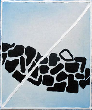 "Dominic Paul Moore  ""Yo Shida"" (2013) Oil and acrylic on linen, 21 x 18 inches."