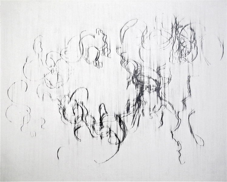 """""""My Lovely"""" (2008) Graphite on paper, 22 x 27 1/2 in."""