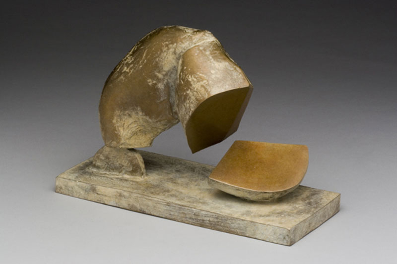 "Jud Bergeron ""Cleavage"" (2006) Cast bronze, 6.5 x 9.75 x 4 in., Ed. of 9"