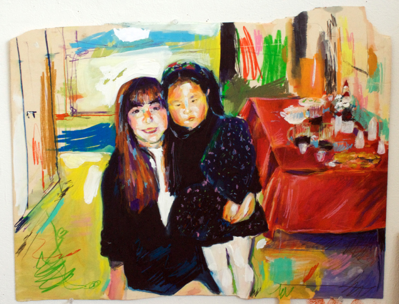 "Jane Kim  ""Untitled"" (2010) Water-soluble crayon, gouache on wood panel. 24 x 30 inches"