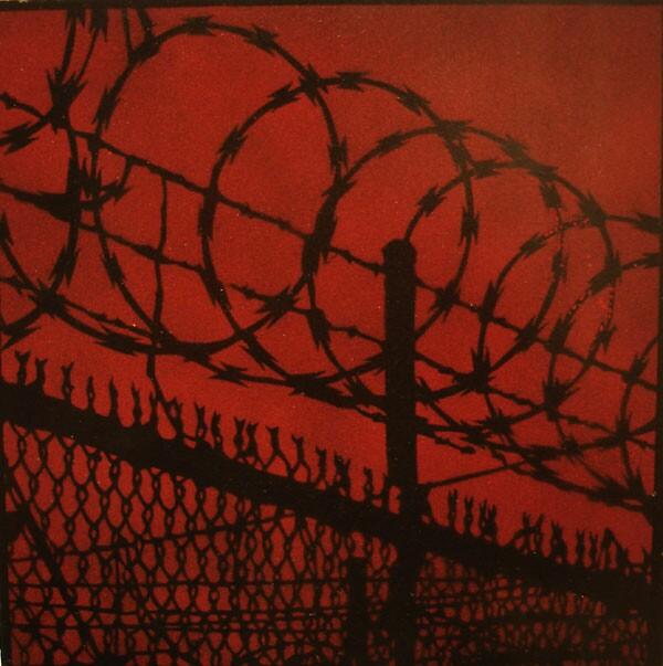 "Logan Hicks ""Untitled"" (2004) Acrylic on masonite, 8 x 8 in."