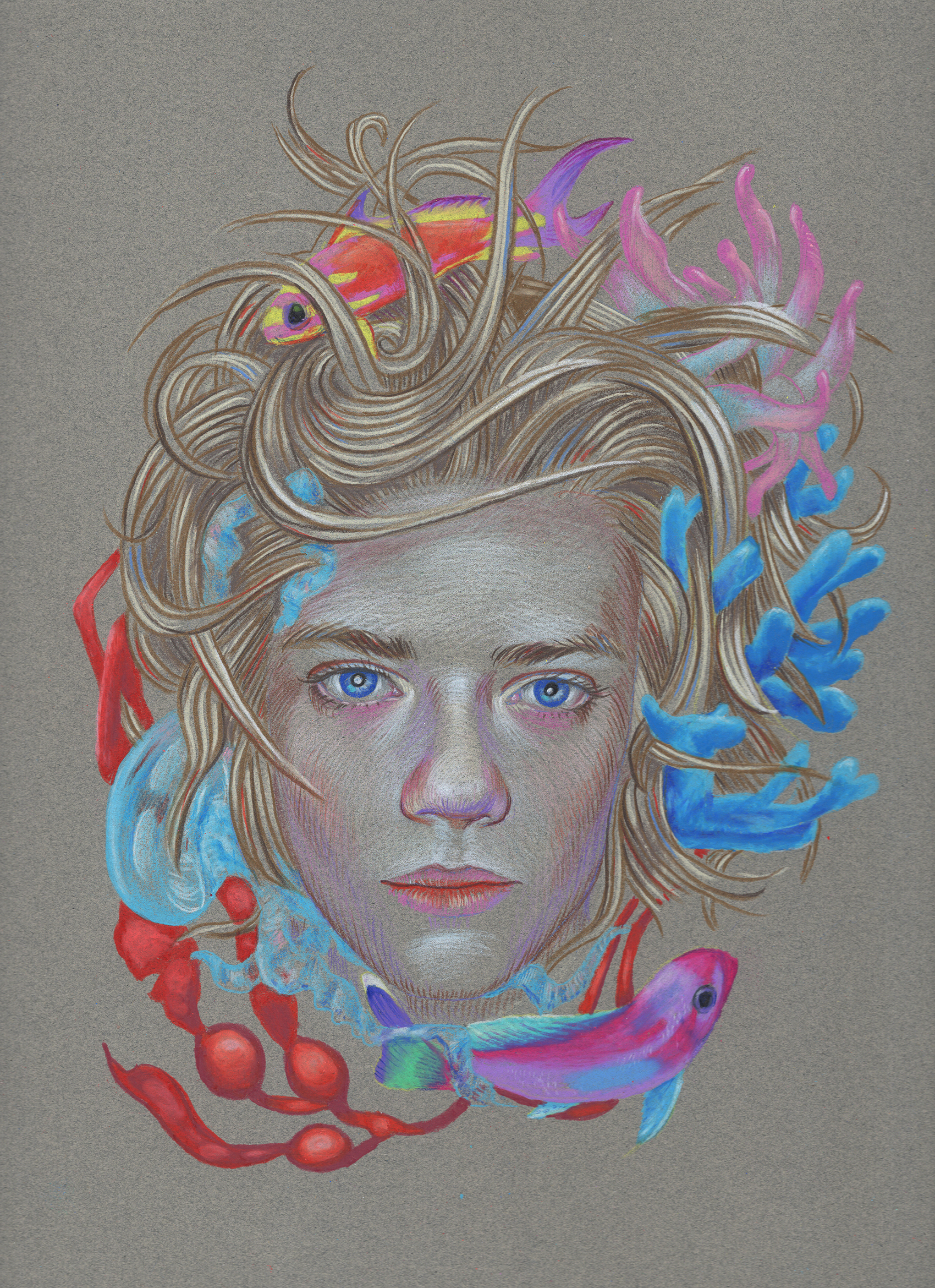 Untitled. Color pencil on paper. 12 x 9 inches.