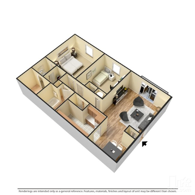 2 Bedrooms | 2 Bathrooms | 1090 Sf | From $920