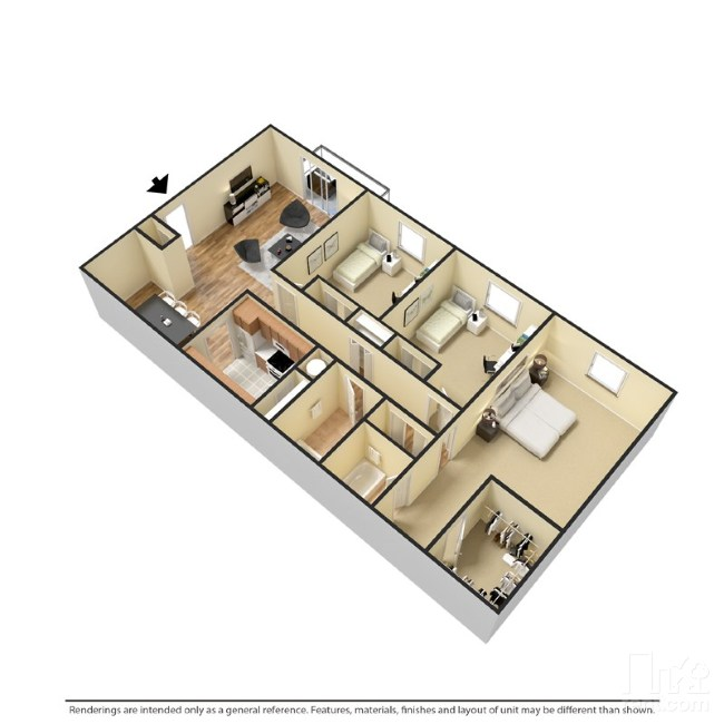 3 Bedrooms | 2 Bathrooms | 1289 Sf | From $1140