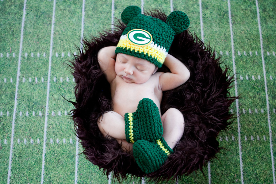 Football newborn photo