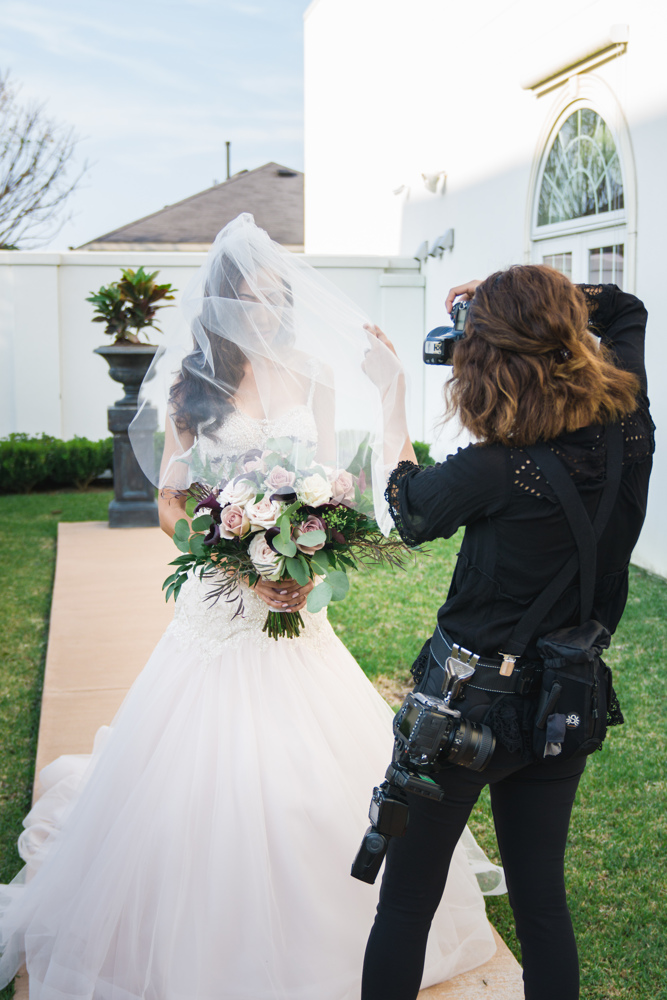 BEHIND THE SHOT - A little behind the scenes captured by my lovely second shooter- Stephania Campos! I am fully loaded with the best gear on a Wedding day!  Thanks to my awesome ->  Spider Holster I can hold a ton of gear on me while have my hands free! I won't shoot an event without it!