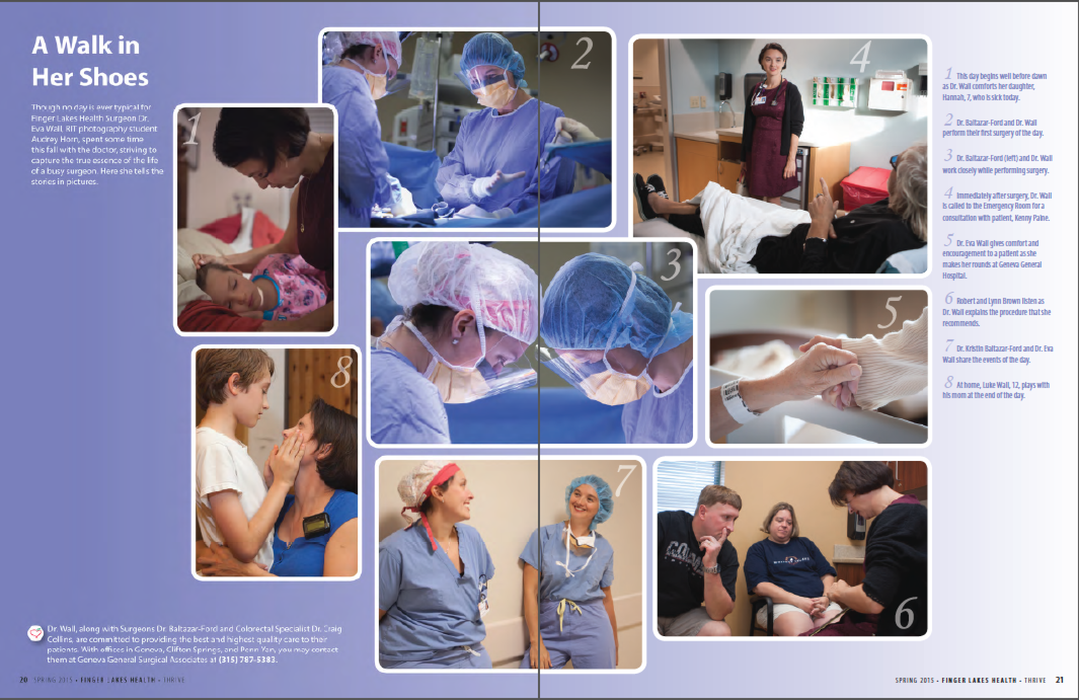 Finger Lakes Health magazine spread.