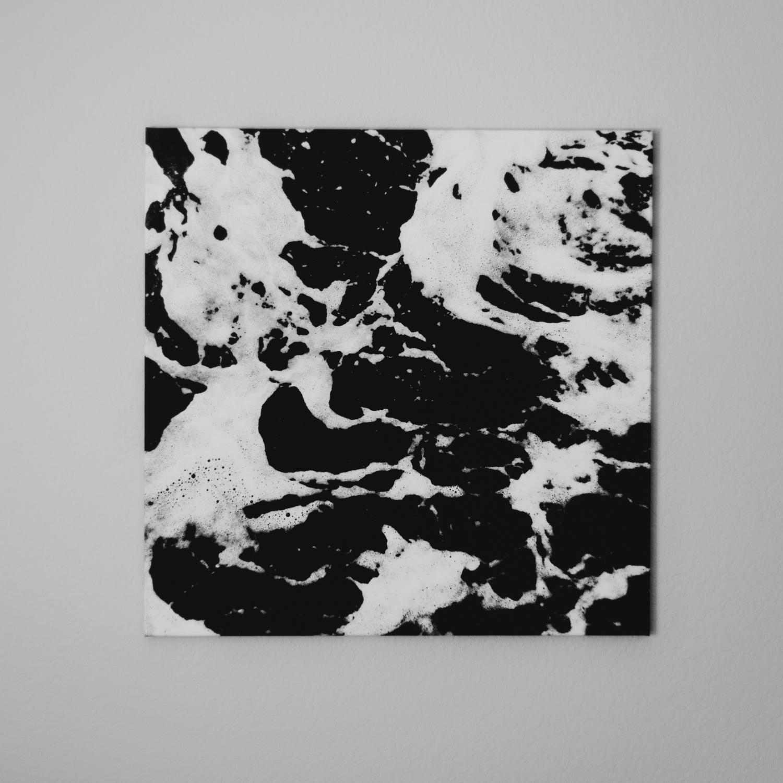 """""""Continents"""", 30 x 30 x 0.79 Matte Fine Art Canvas 2017"""