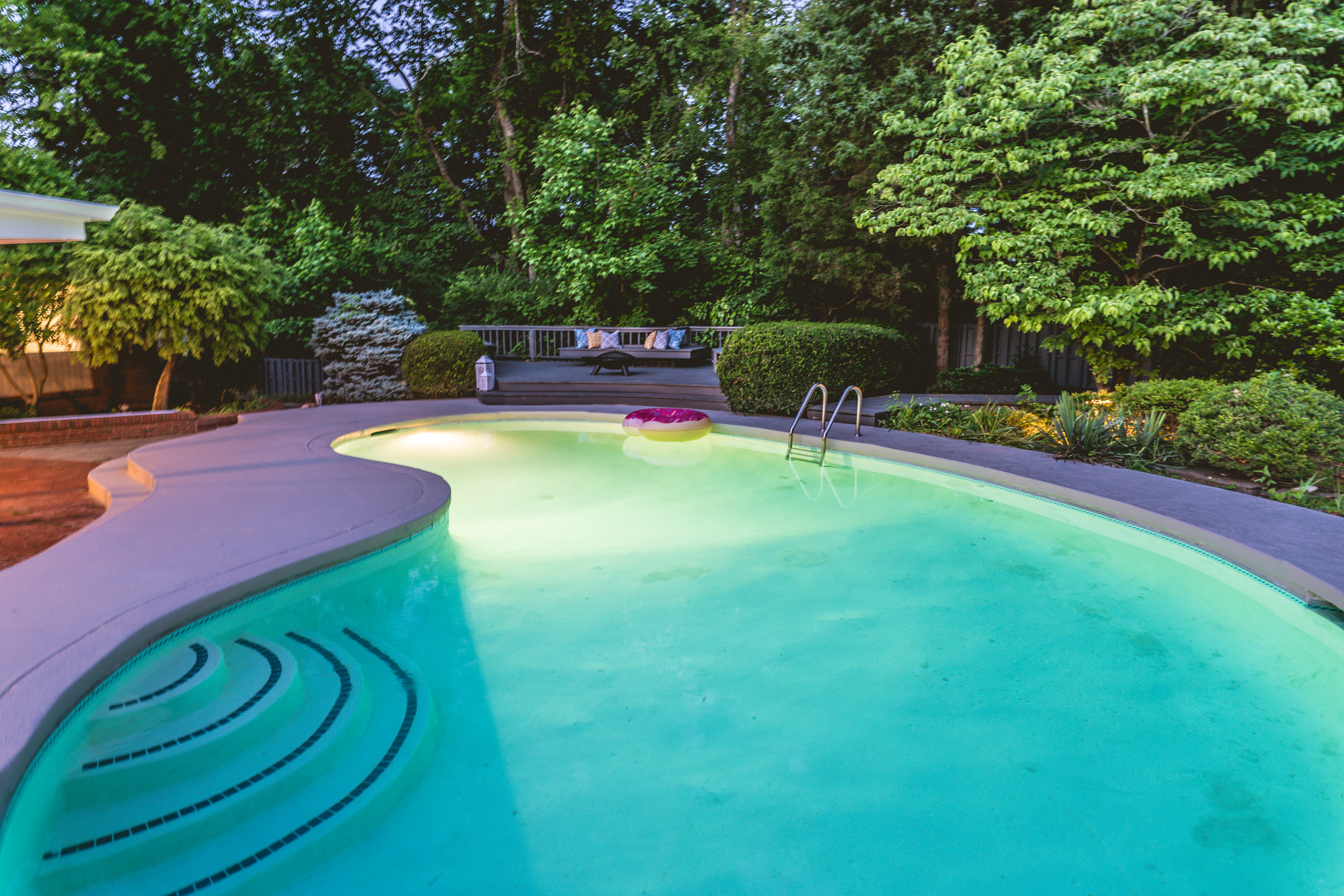 Pool from the master deck