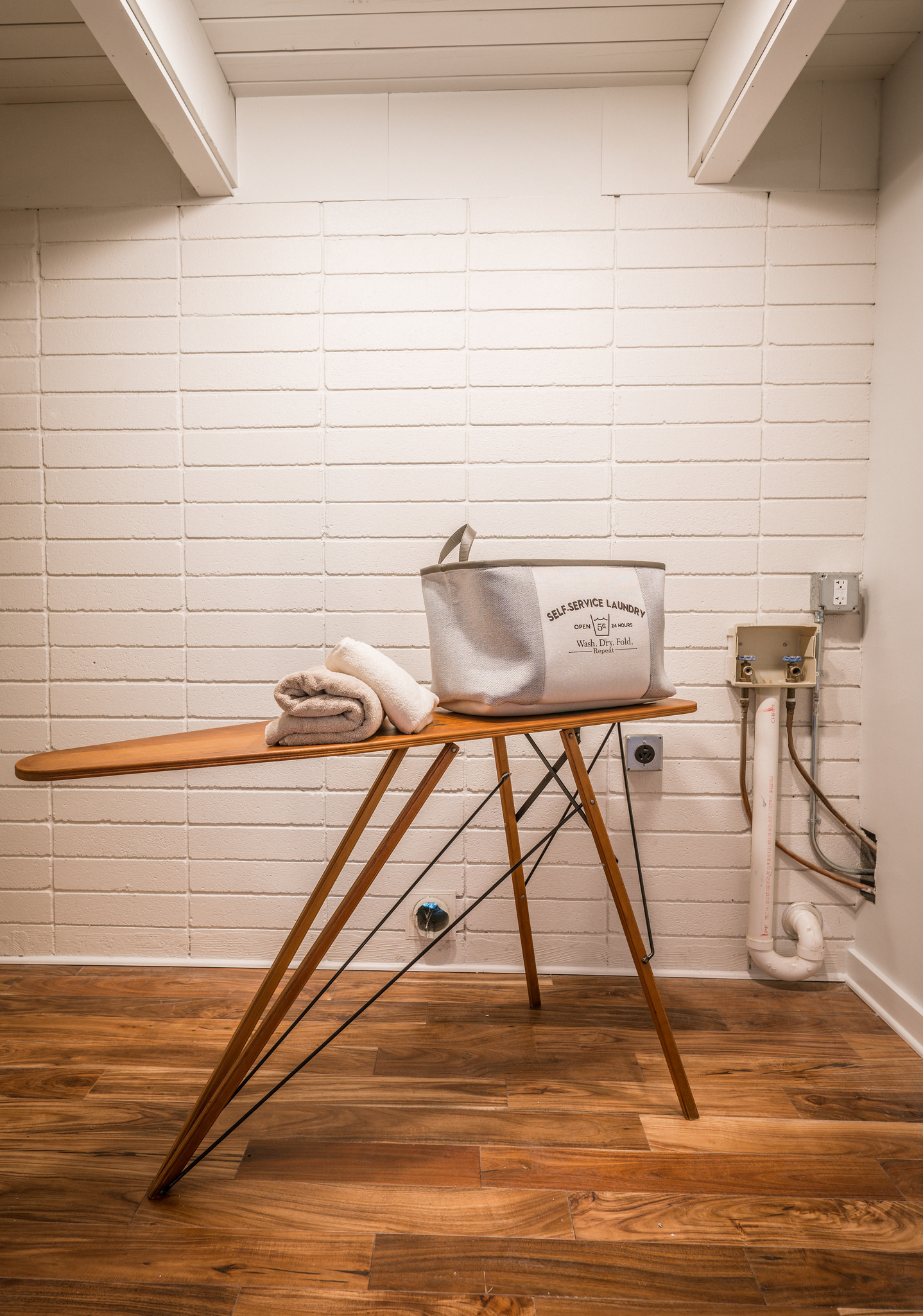 Second laundry in kids' playroom