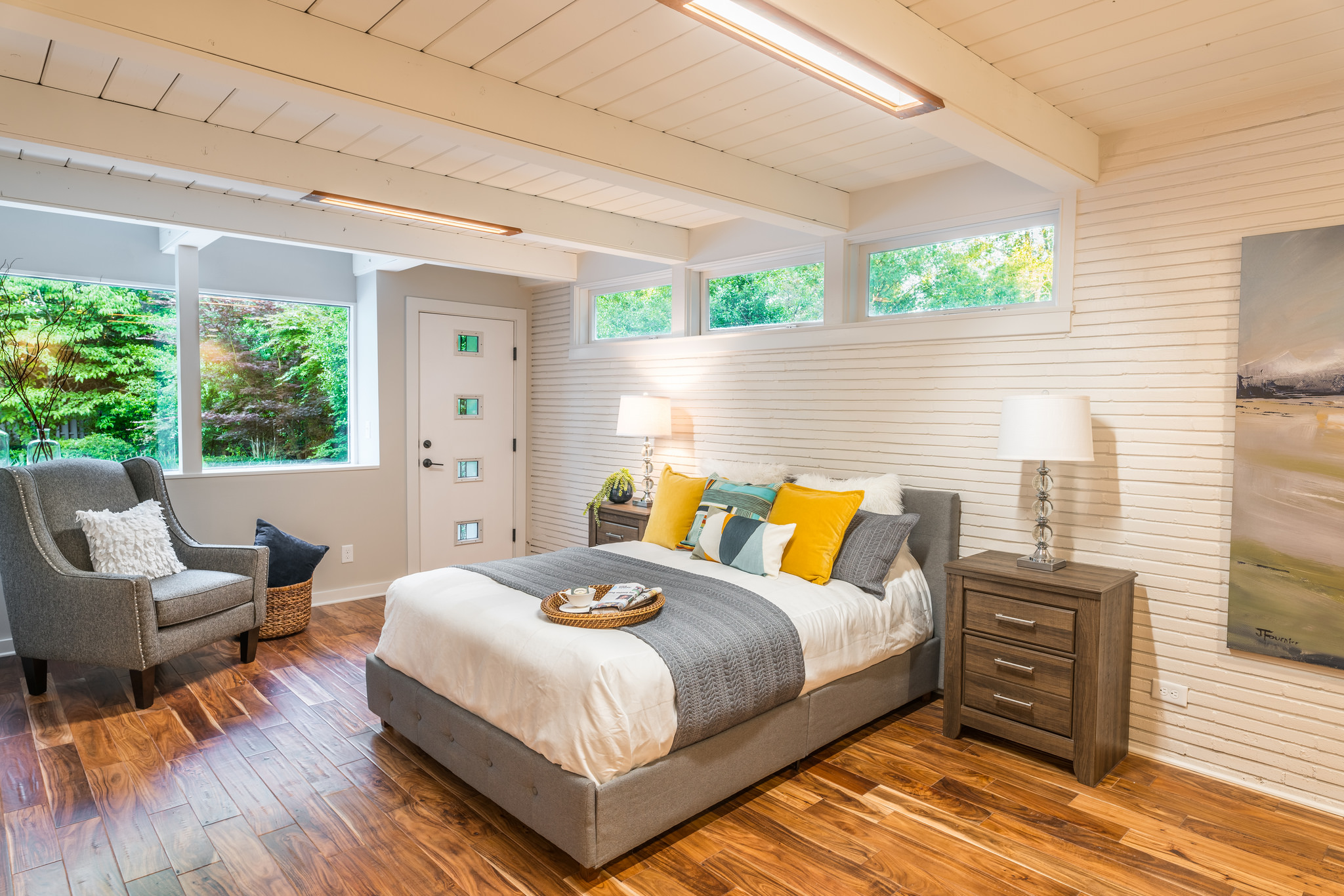 Master bedroom with exterior access to pool deck