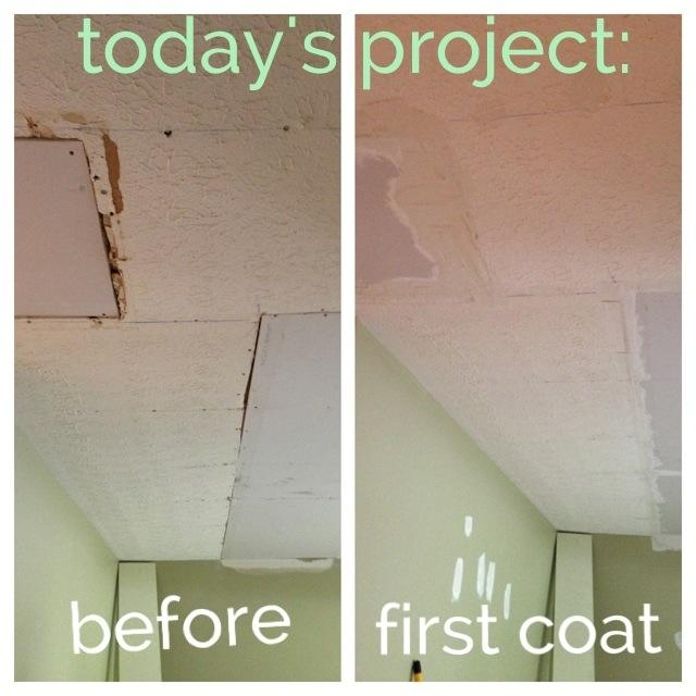 The day I learned how to patch and mud textured ceilings.