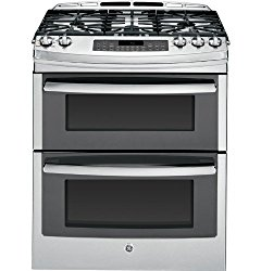 GE Slide-in Gas Range with Double Ovens