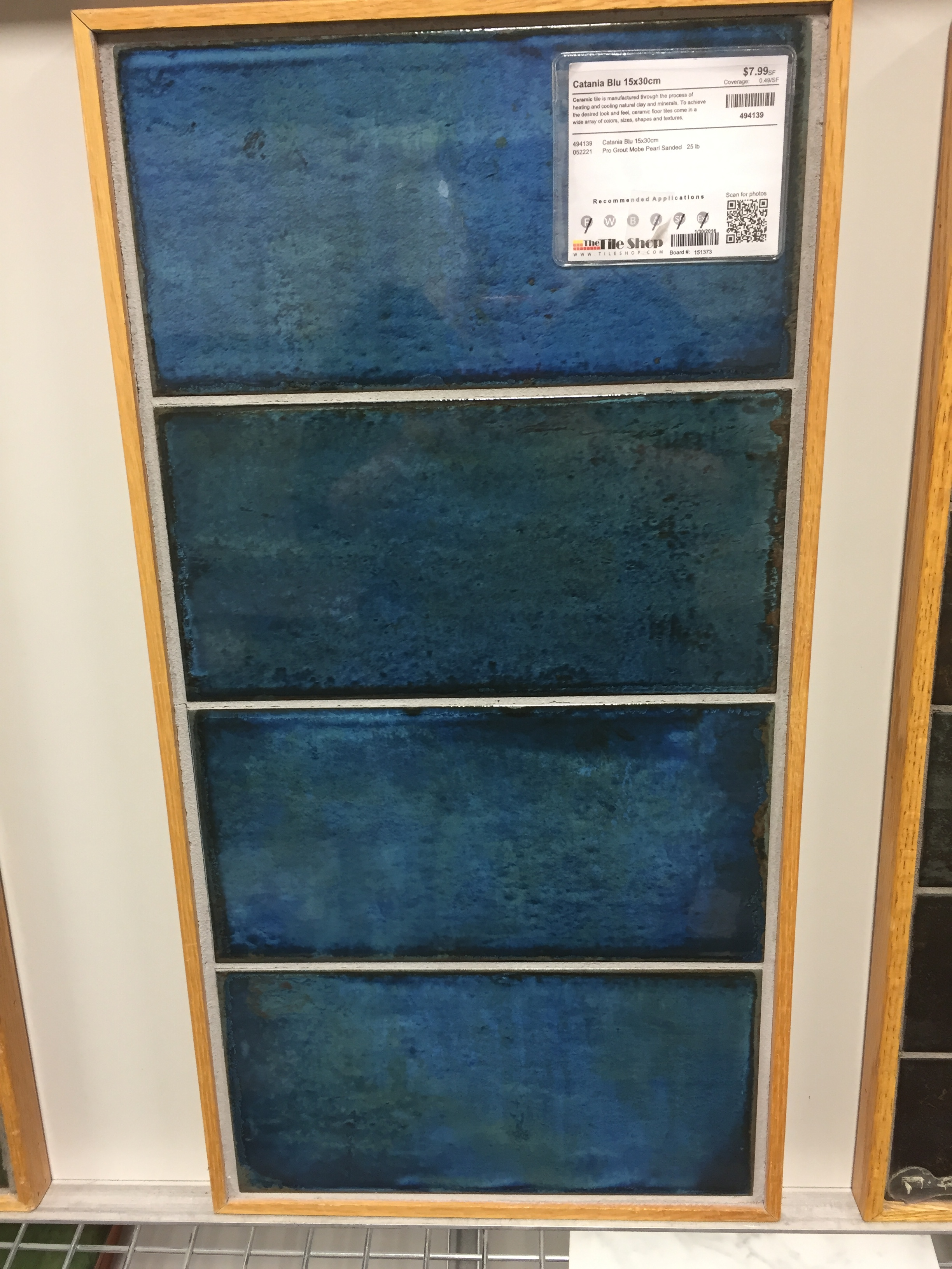 Catania Blue 6x12 from The Tile Shop