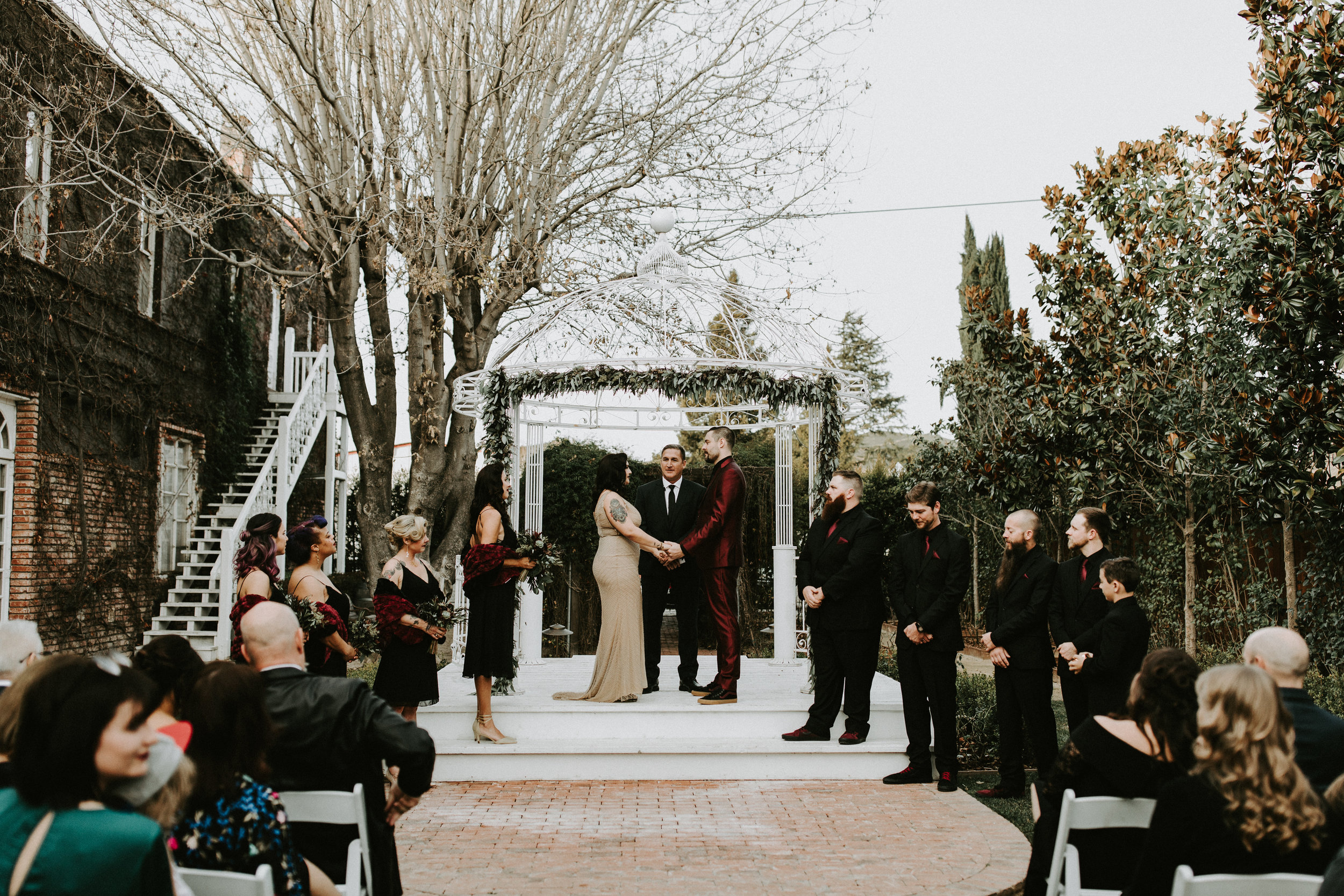 Wedding Arbor with Mixed Eucalyptus and Agonis Greenery