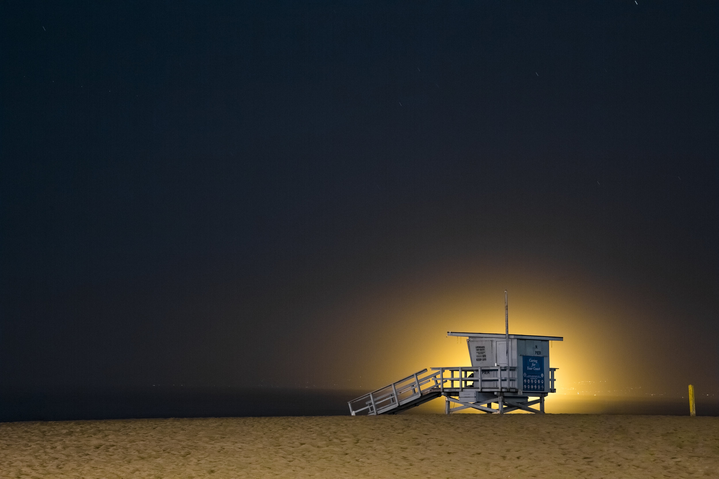 Night photography at the Manhattan Beach pier on December 7, 2016.