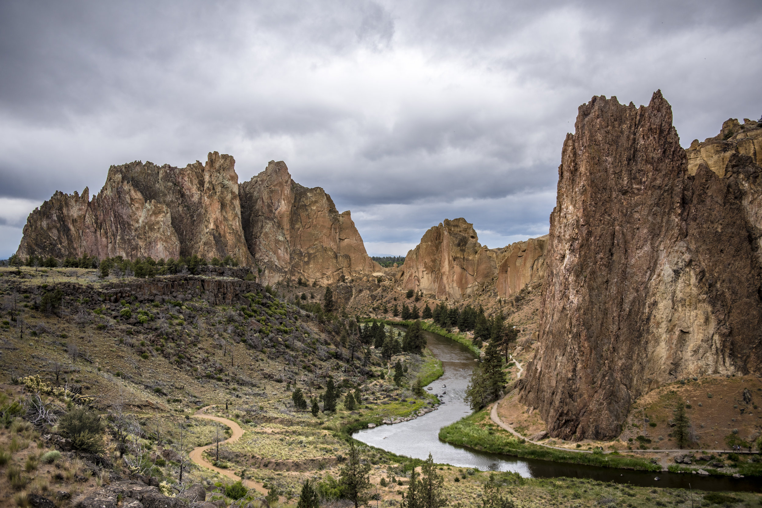 Dramtic sky over Smith Rock