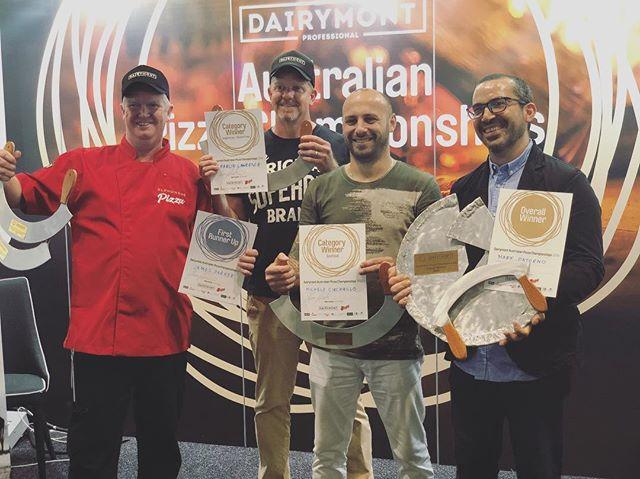 Congratulations to all our winners, runner up's and finalists! #dairymontaustralianpizzachampionships2018 #winners🏆 #welldone