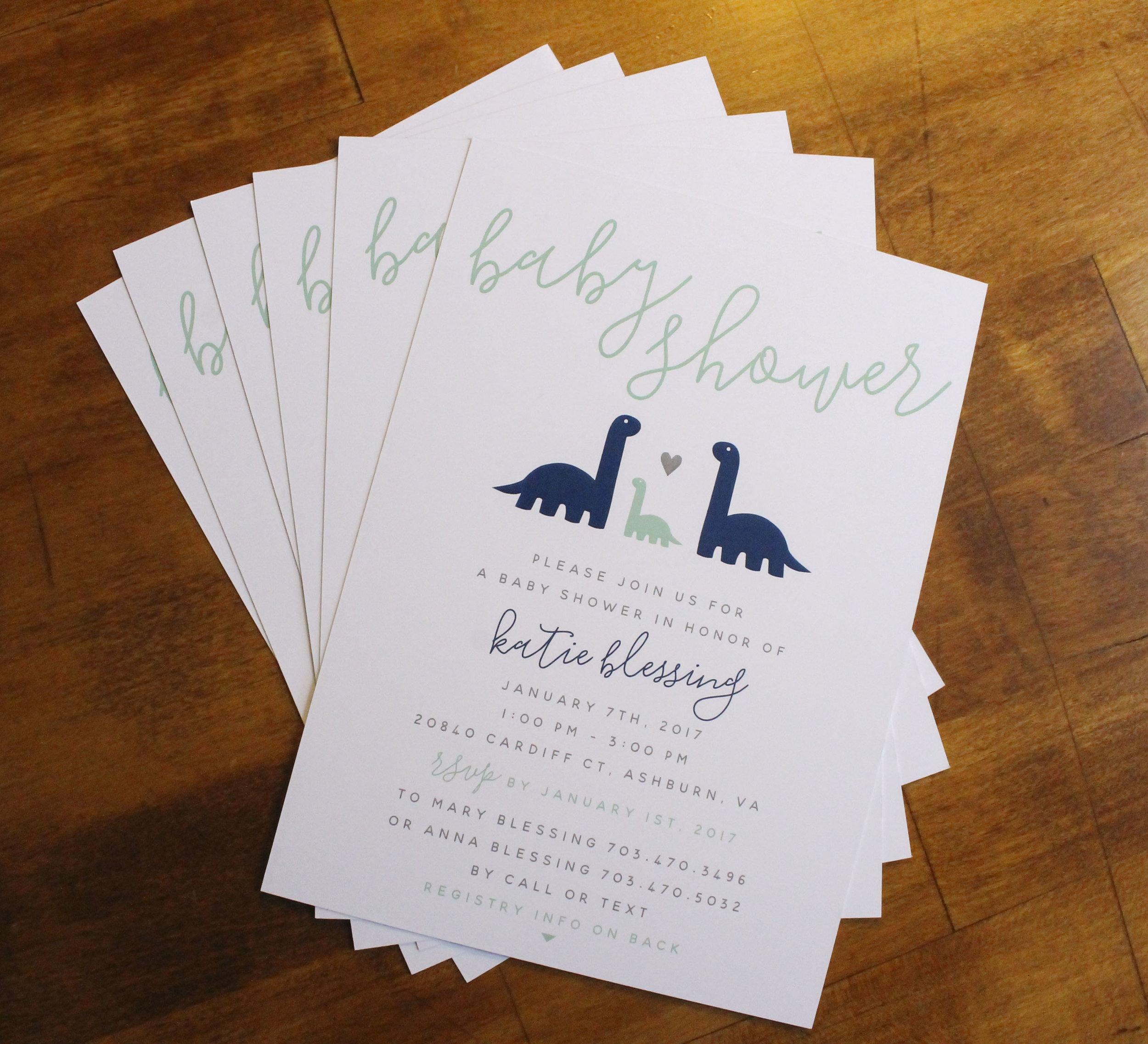 Baby Shower Invitation Dinosaurs