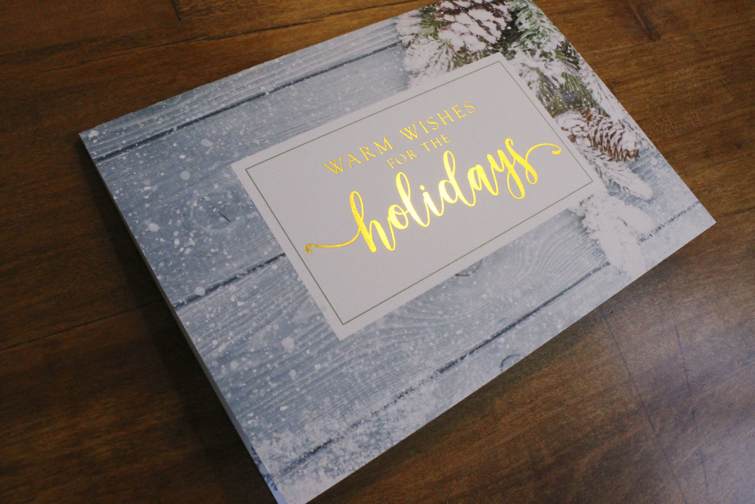Holiday Card Gold Foil