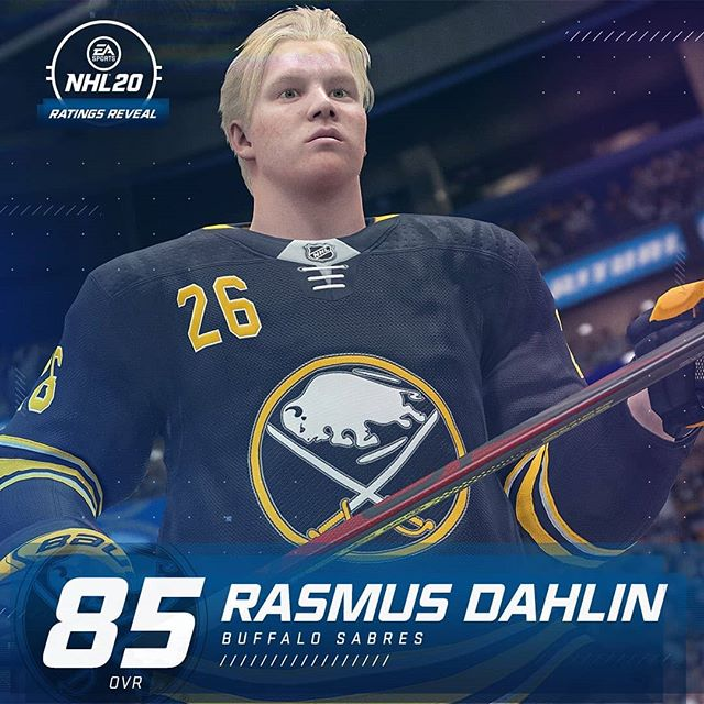 What do you think of Rasmus Dahlin's #NHL20 rating?