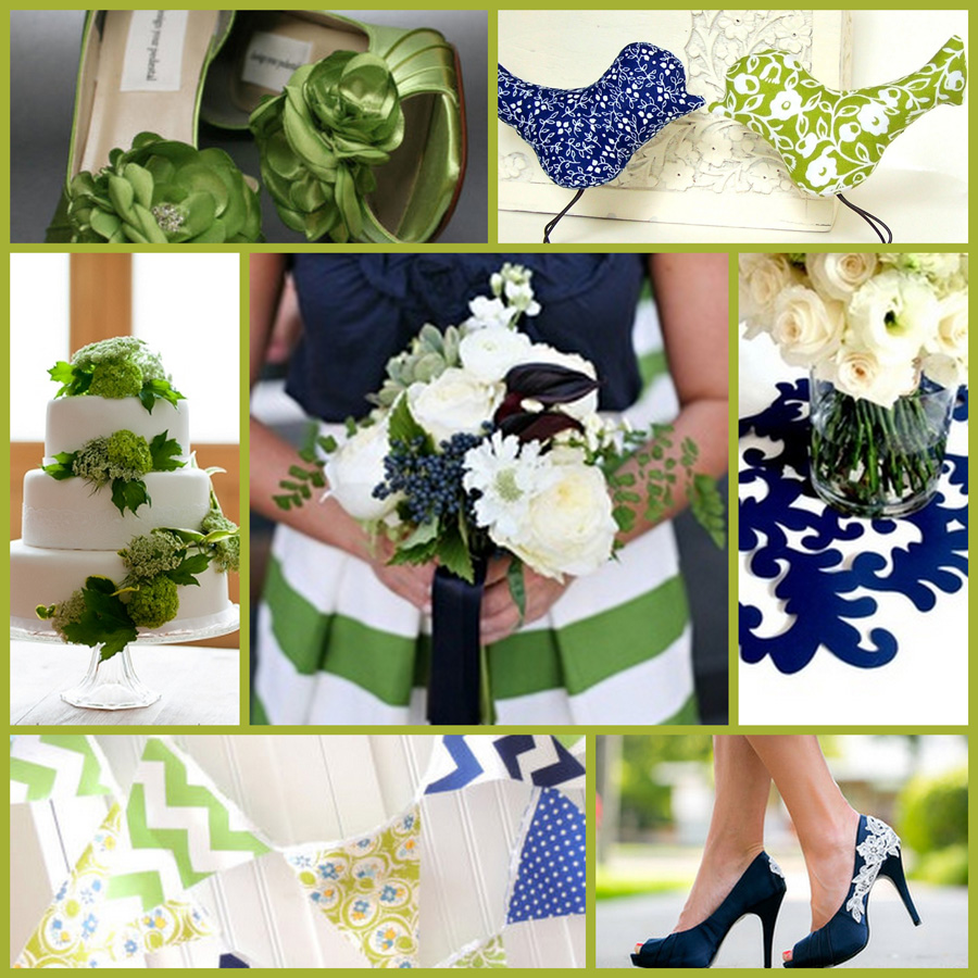 Apple Green Navy And White Wedding Stubby Holder Palette Coolaz