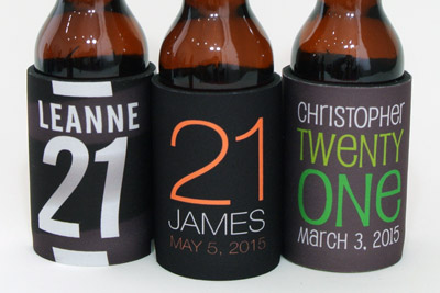Our pick from our collection of 21st birthday stubby holders