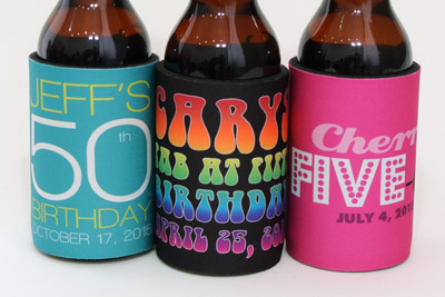 3 funtastic birthday stubby holders for the big 5-0