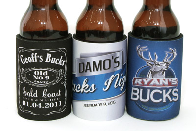 Three example designs for your bucks stubby holders