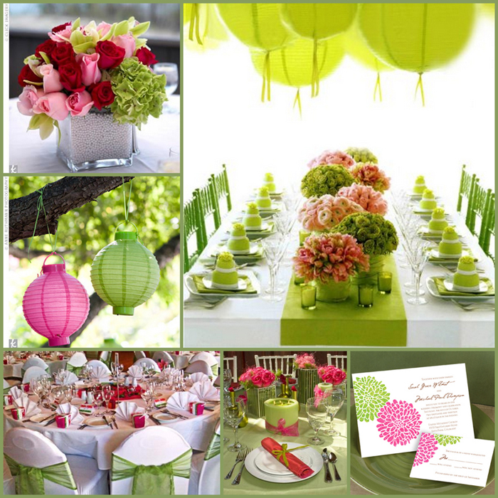 Green and pink - a wonderful garden inspired palette.