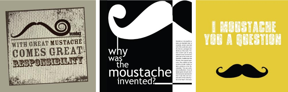 Three great ideas for your Movember stubby holders