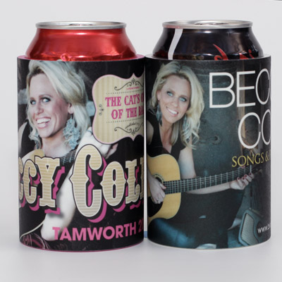Just a couple of the many Beccy Cole stubby holders we've made for her team and tours.
