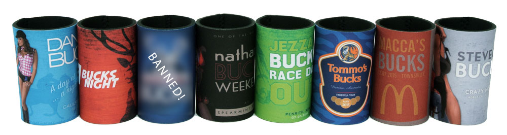 With over 50 design to choose from - or send in your own design - we are sure to have the perfect Bucks night stubby holder for you!