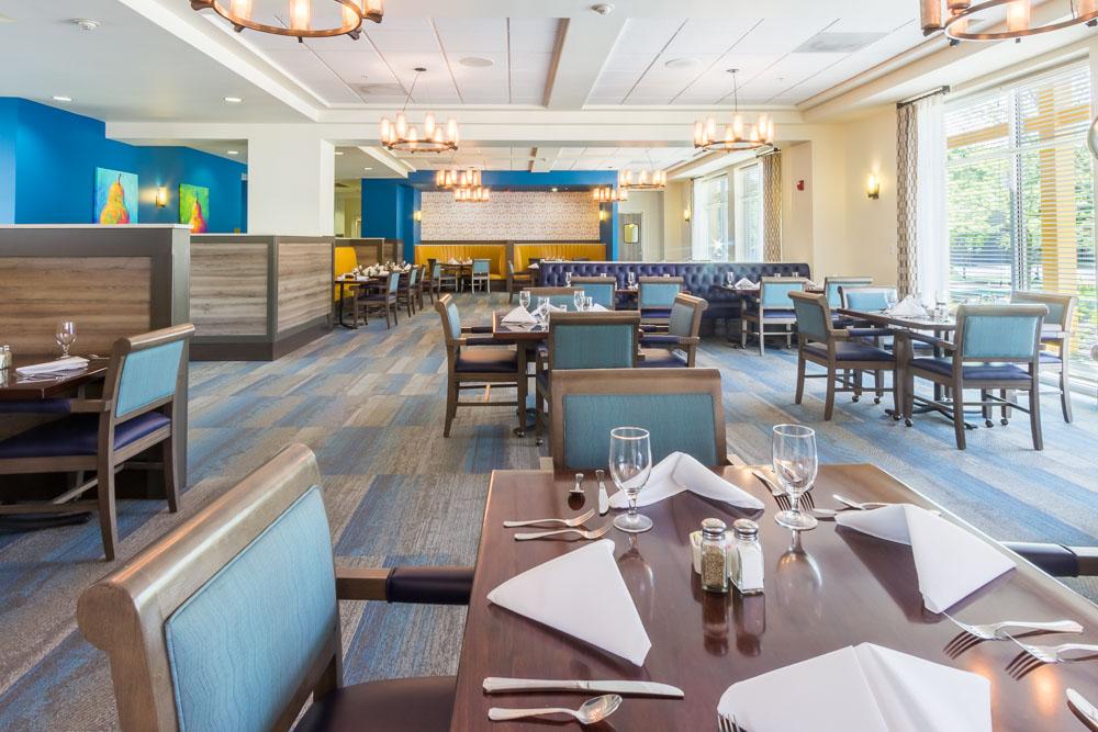Restaurant Dining Room blue walls
