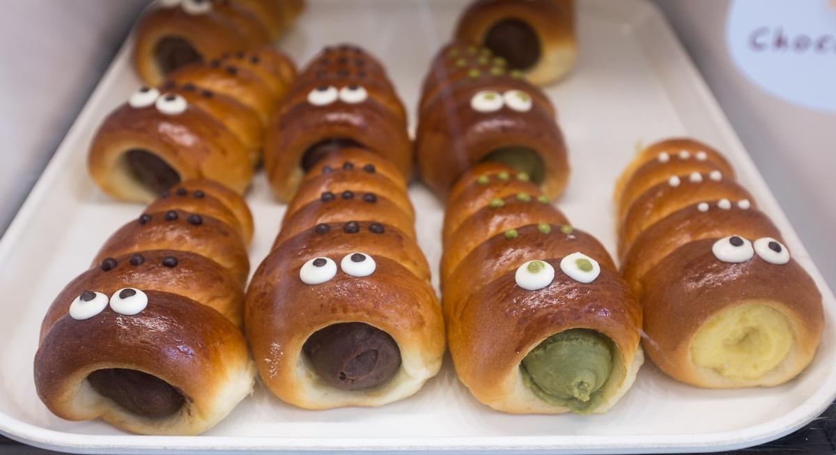 Cream Horns with eyes from  Oyatsupan Bakers , Beaverton, Ore.  photo:  Tiny Oak Media