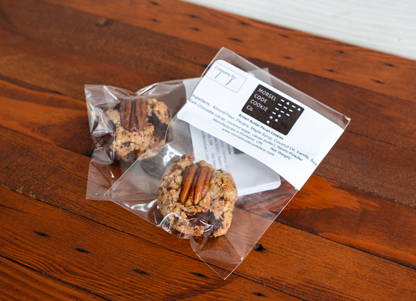 Morsel Code packaged cookies