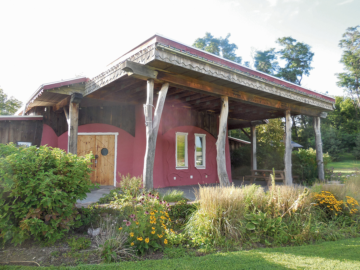 The Arts Centre Hastings in Madoc was built in 2008 by students in sustainable building program at Peterborough's Fleming College. Emma Bowen's father Chris Magwood was a co-creator.  Photo courtesy Dear Wanderer Entertainment Productions