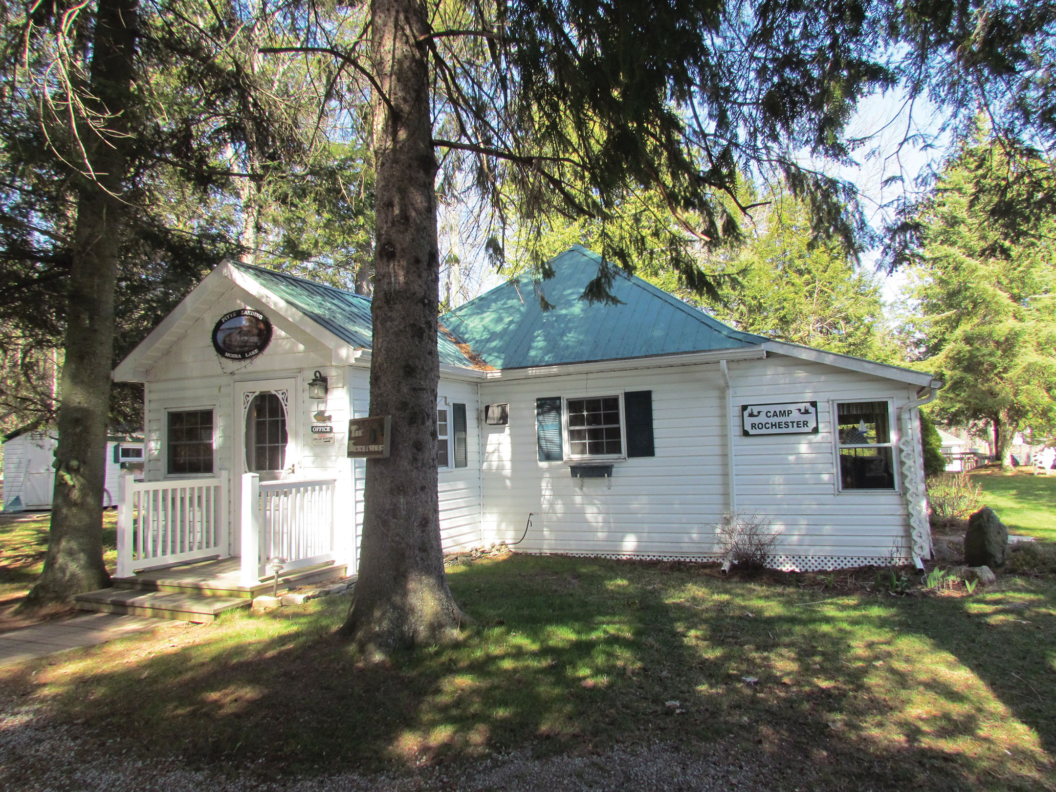Each of the Pitts' Landing cottages had a name and a story. 'Camp Rochester' was one of the original eight cabins built on the shores of Moira Lake in 1939.