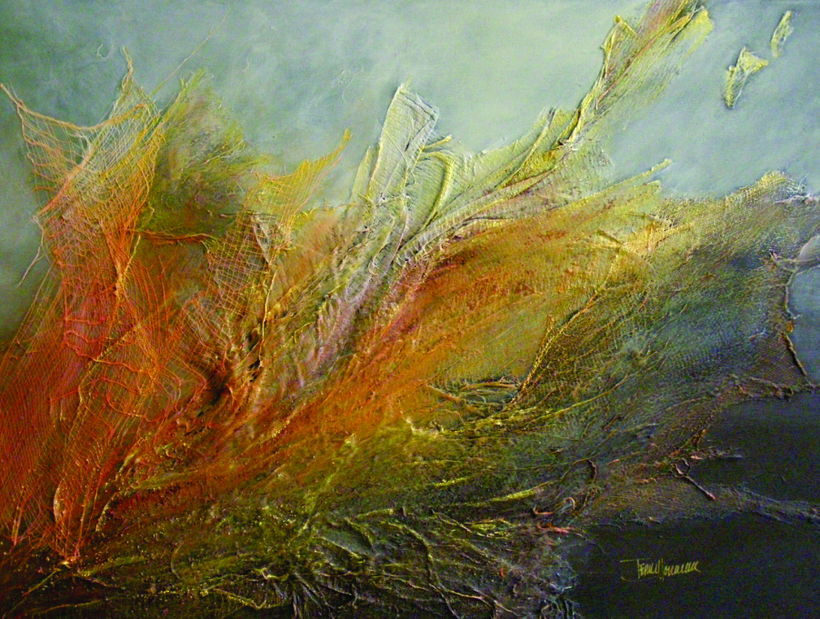 The Tweed Studio Tour features a variety of art forms, like this mixed media painting by terri horricks